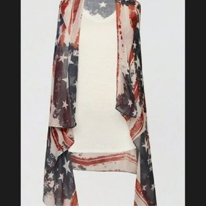 Americana patriotic vest , cover up MAURICES ✅ONE SIZE FITS MOST✅